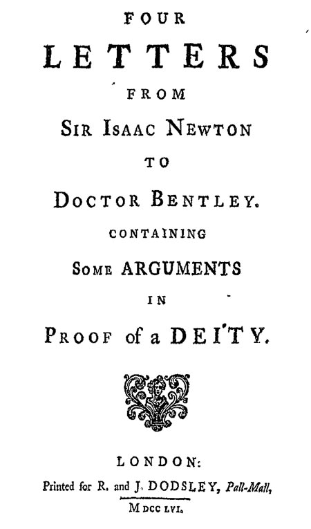 Sir Isacc Newton - Proof of a Deity